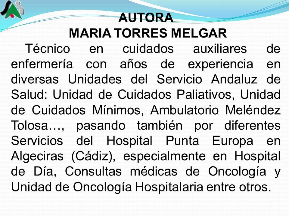 AUTORA MARIA TORRES MELGAR.