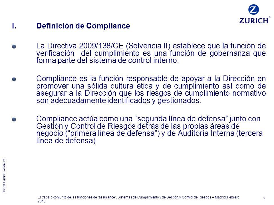 I. Definición de Compliance