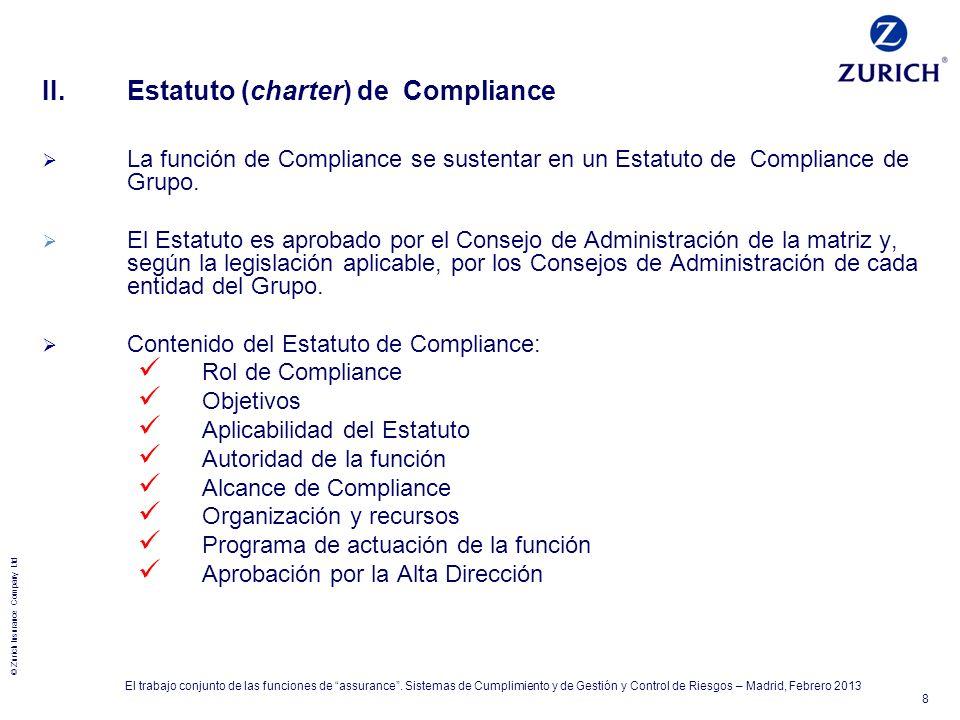 II. Estatuto (charter) de Compliance