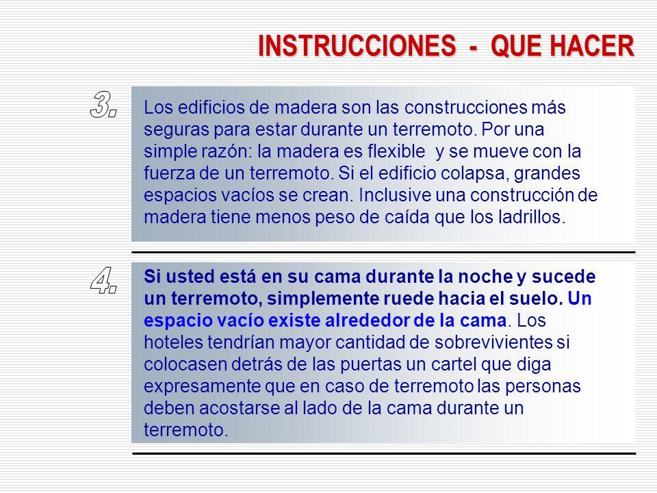 INSTRUCCIONES - QUE HACER