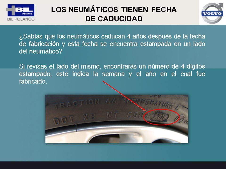 LOS NEUMÁTICOS TIENEN FECHA DE CADUCIDAD