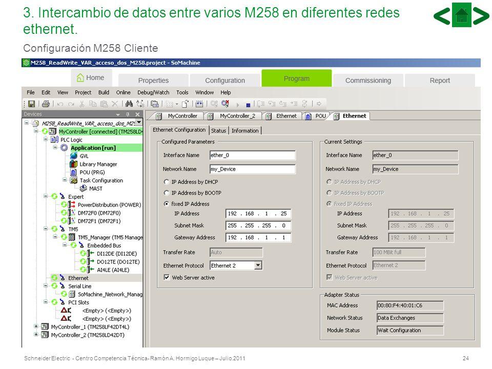 Configuración M258 Cliente
