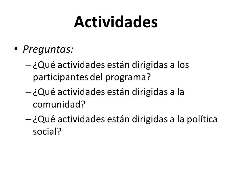 Actividades Preguntas: