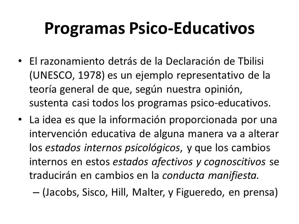 Programas Psico-Educativos