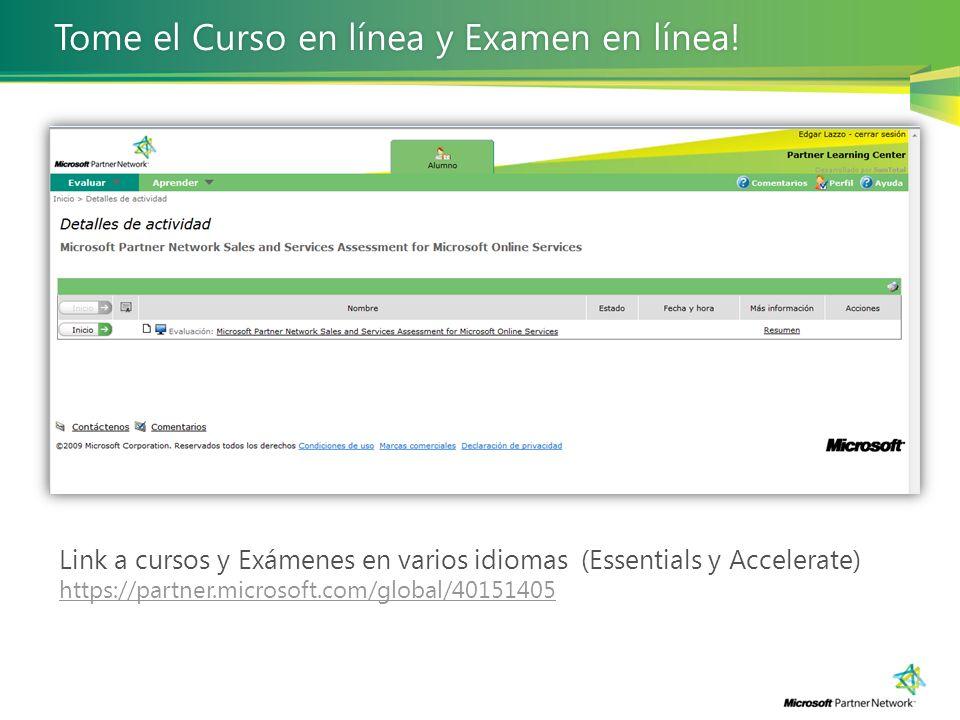 Tome el Curso en línea y Examen en línea!
