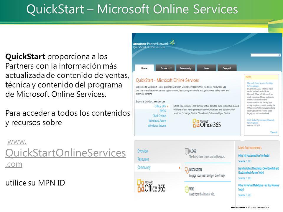 QuickStart – Microsoft Online Services
