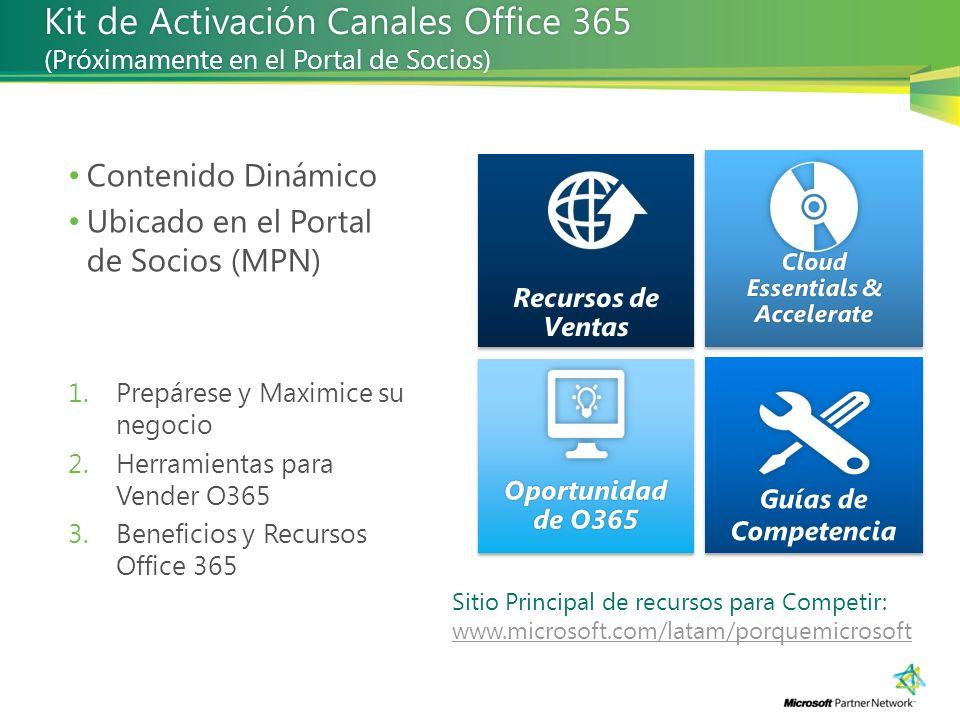 Kit de Activación Canales Office 365 (Próximamente en el Portal de Socios)