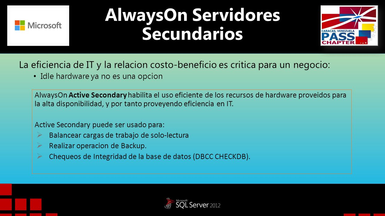 AlwaysOn Servidores Secundarios
