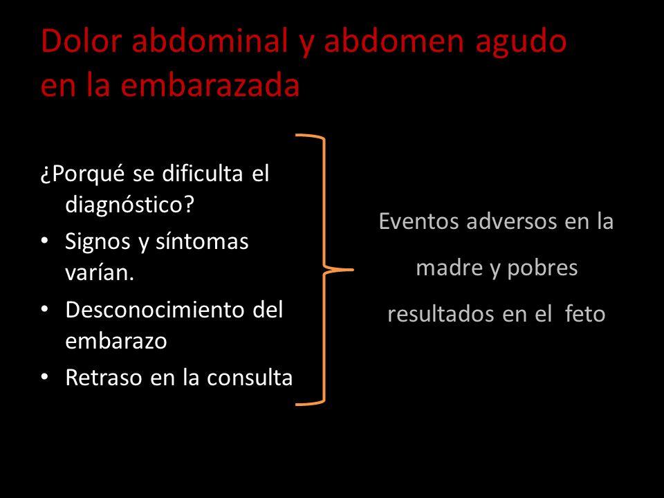 Dolor abdominal y abdomen agudo en la embarazada