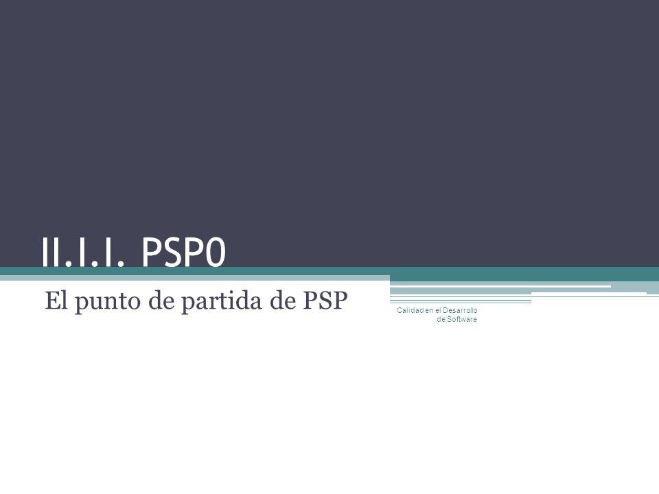 El punto de partida de PSP