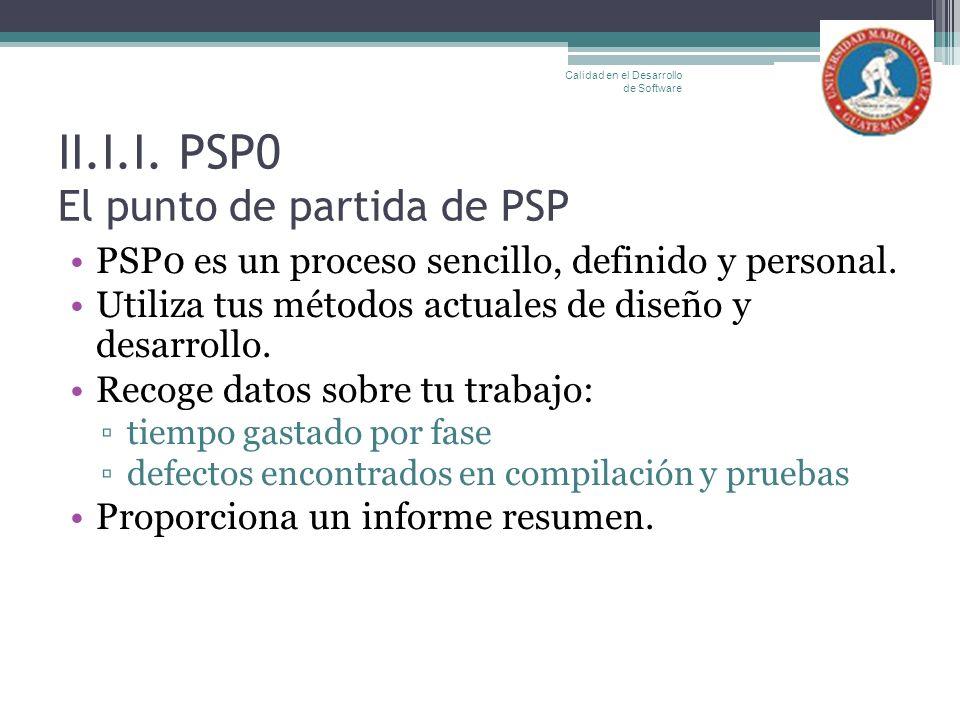 II.I.I. PSP0 El punto de partida de PSP