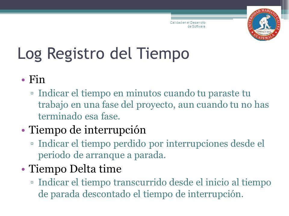 Log Registro del Tiempo
