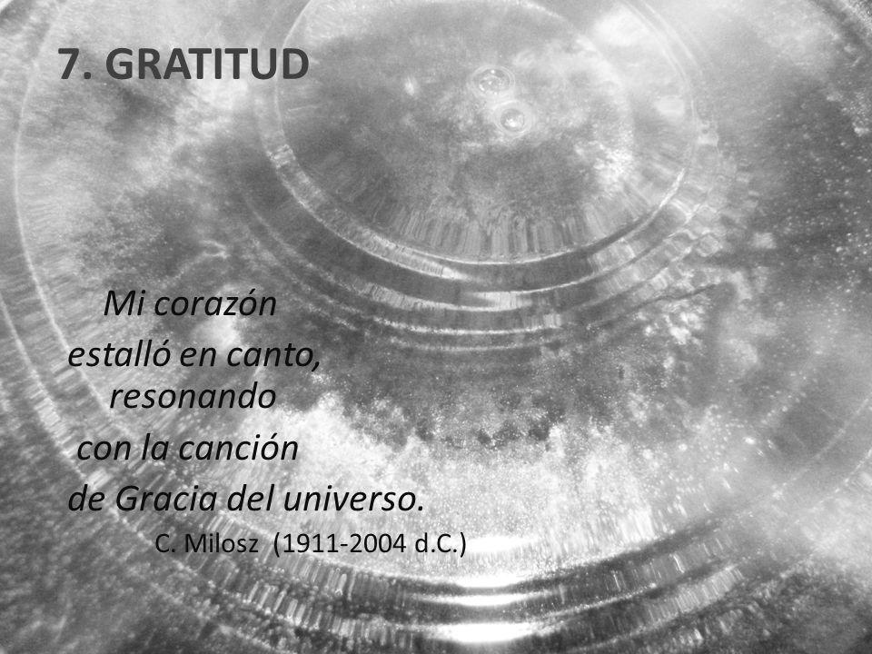 7. GRATITUD Mi corazón estalló en canto, resonando con la canción de Gracia del universo.