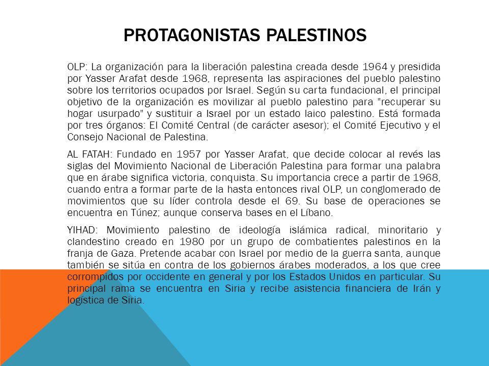 Protagonistas palestinos