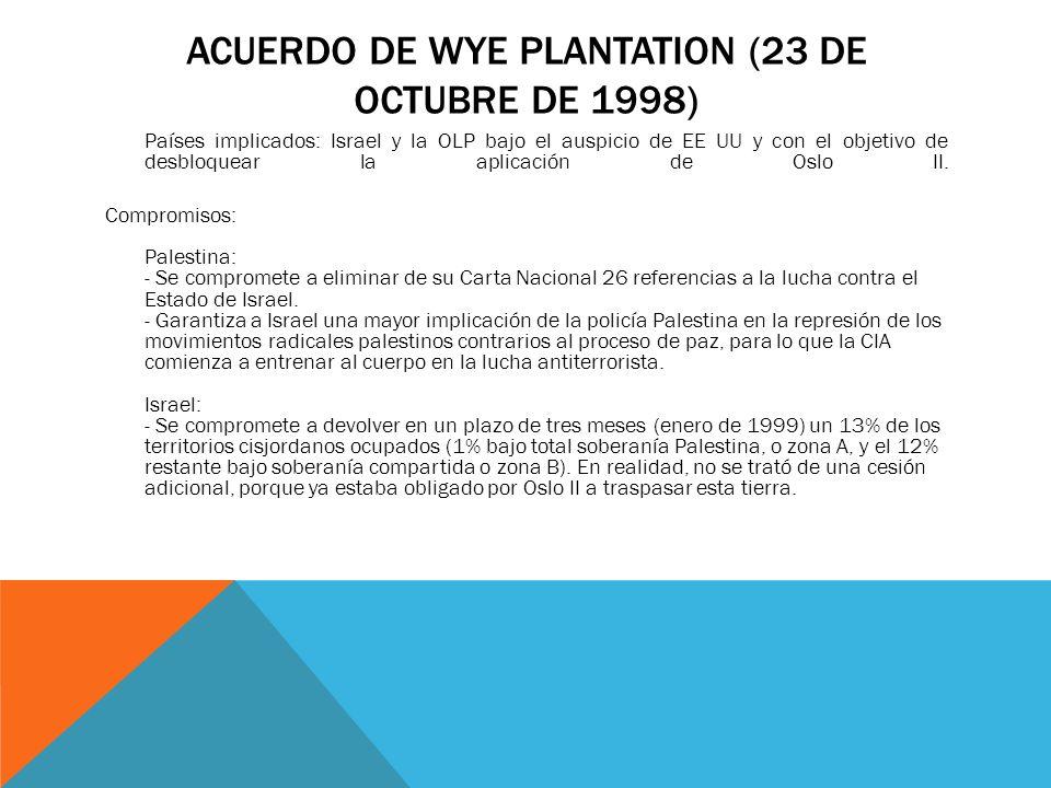 Acuerdo de Wye Plantation (23 de octubre de 1998)