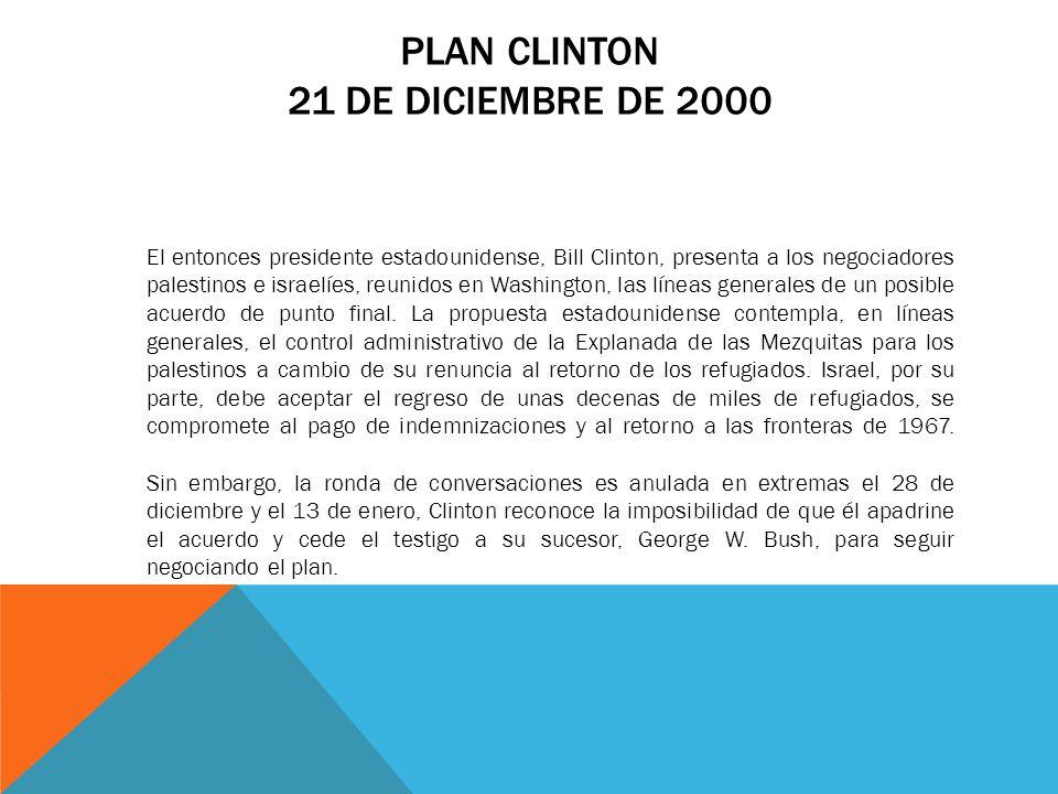 Plan Clinton 21 de diciembre de 2000