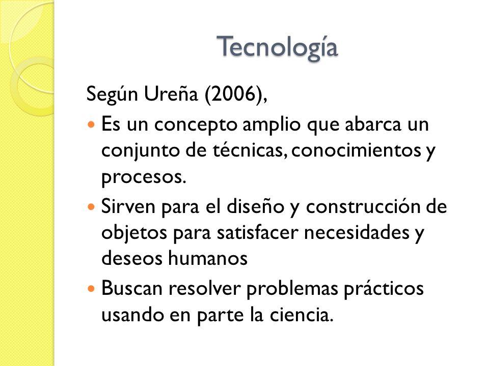 Tecnología Según Ureña (2006),