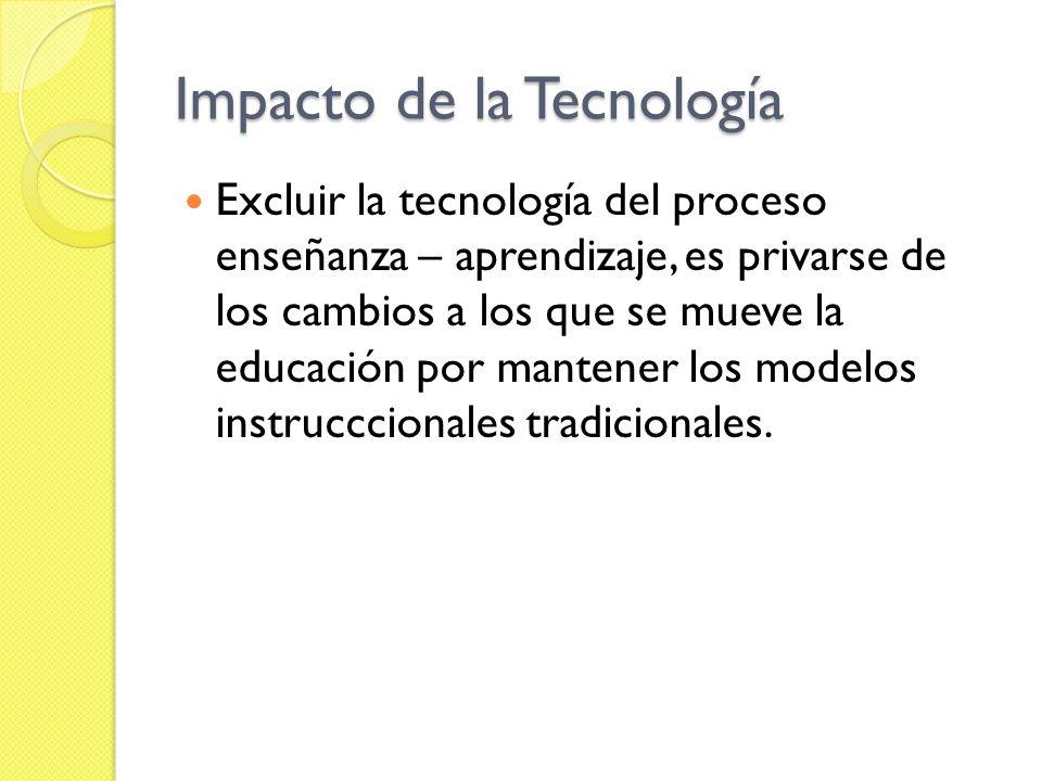 Impacto de la Tecnología