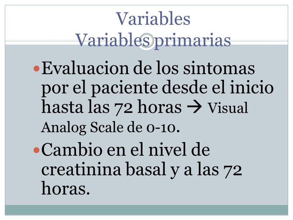 Variables Variables primarias