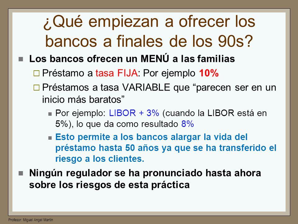 ¿Qué empiezan a ofrecer los bancos a finales de los 90s