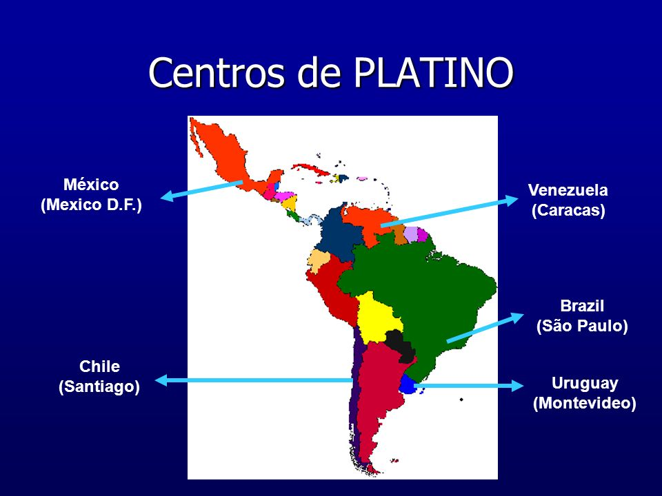 Centros de PLATINO México (Mexico D.F.) Venezuela (Caracas)