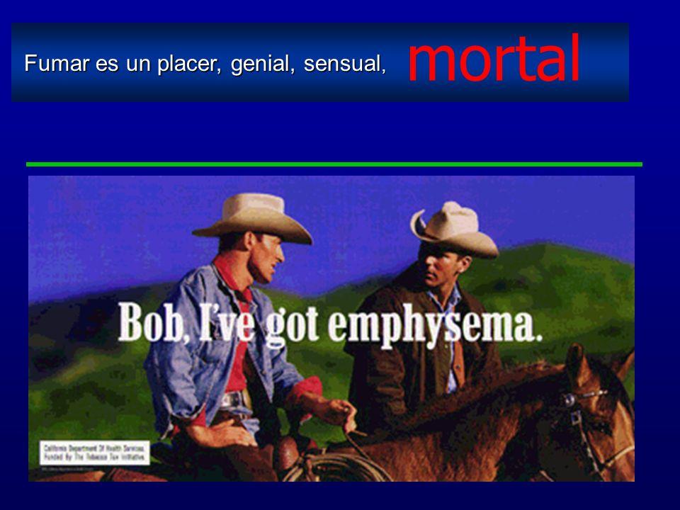 mortal Fumar es un placer, genial, sensual,