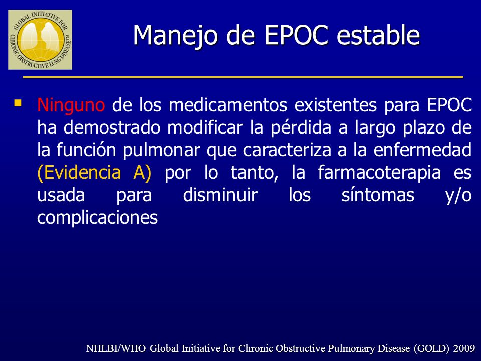 Manejo de EPOC estable