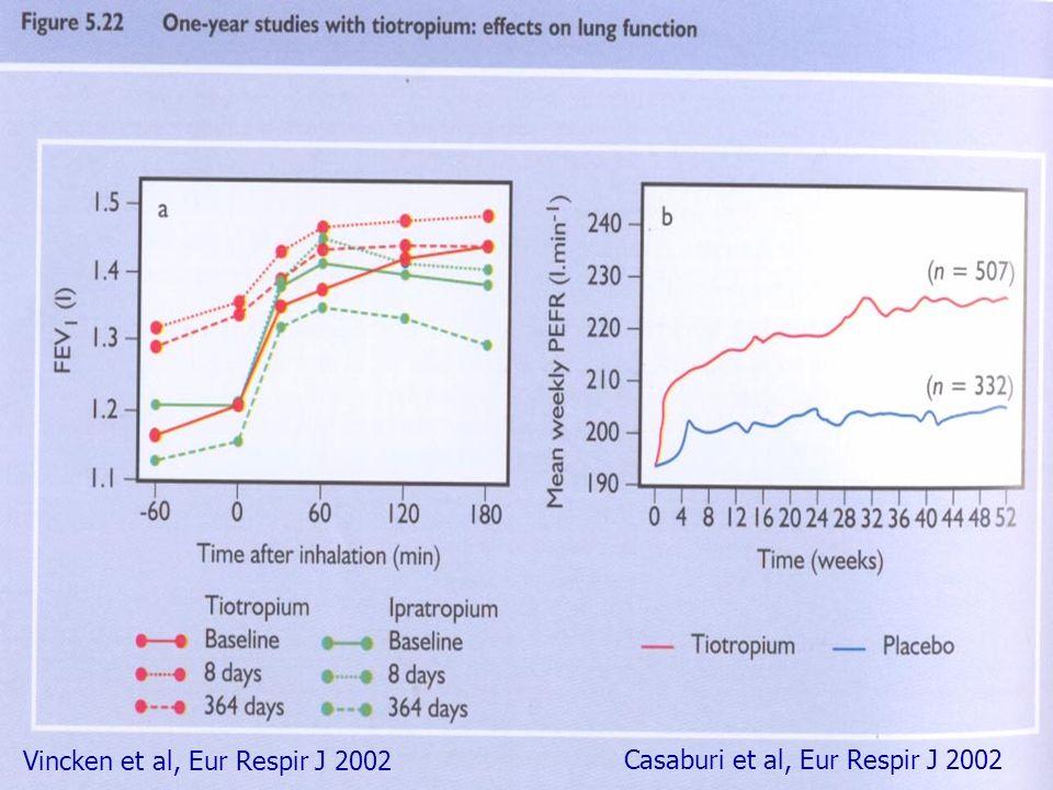Vincken et al, Eur Respir J 2002 Casaburi et al, Eur Respir J 2002