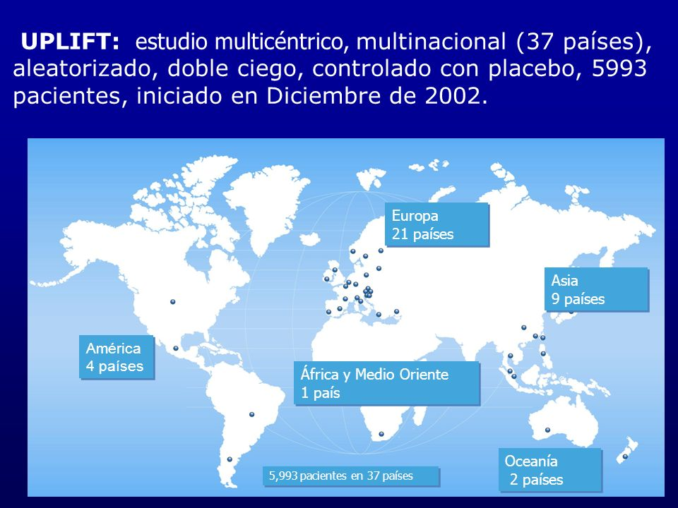 UPLIFT: estudio multicéntrico, multinacional (37 países),