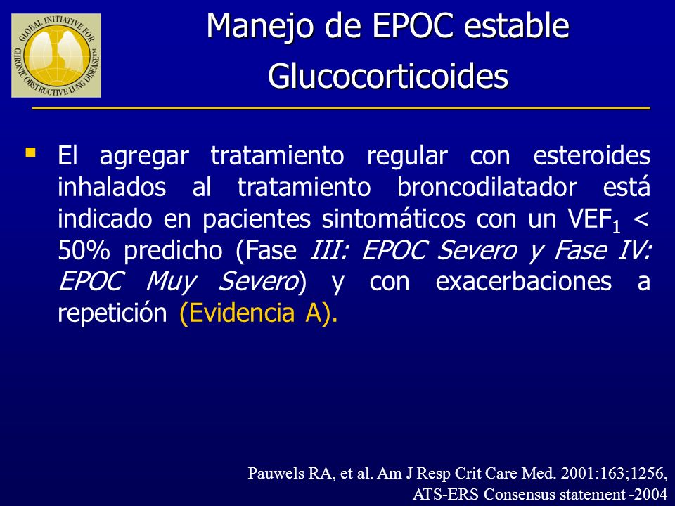 Manejo de EPOC estable Glucocorticoides