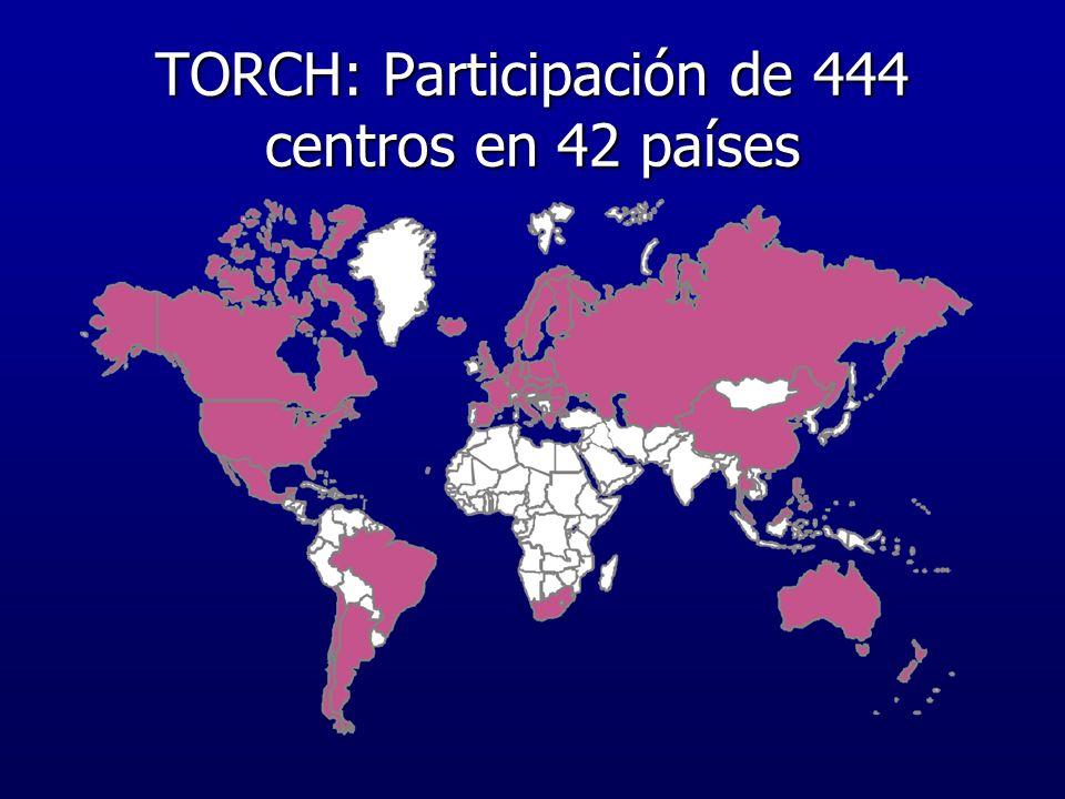 TORCH: Participación de 444 centros en 42 países