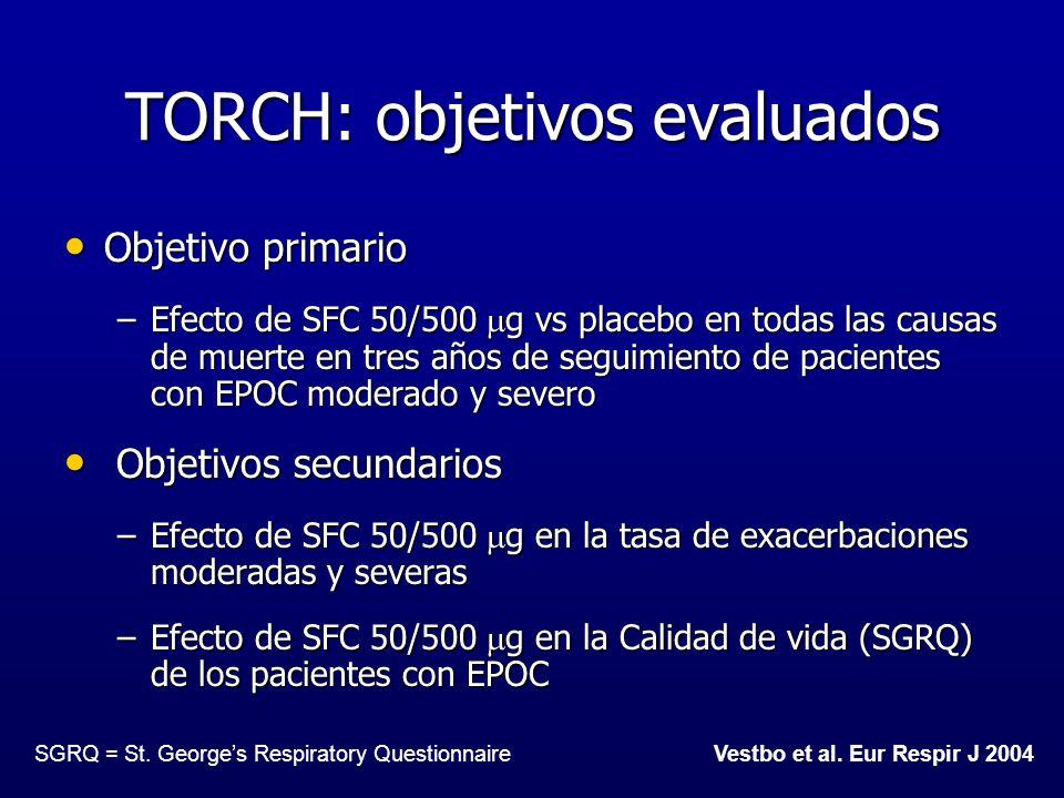 TORCH: objetivos evaluados
