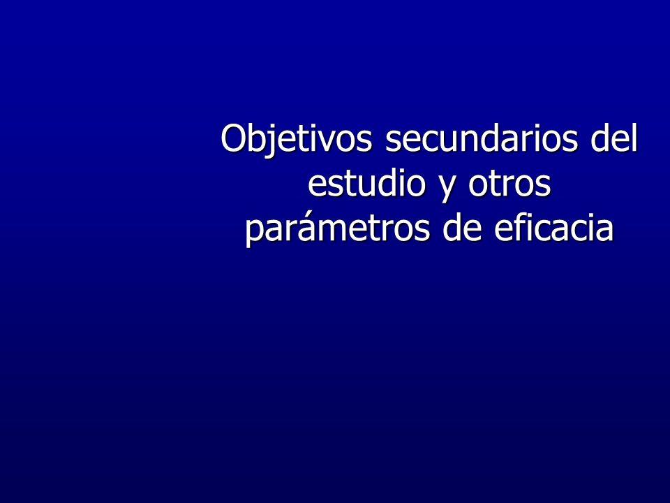 Objetivos secundarios del estudio y otros parámetros de eficacia