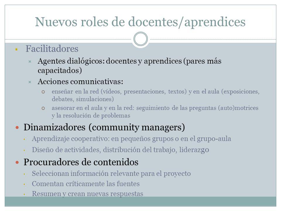 Nuevos roles de docentes/aprendices