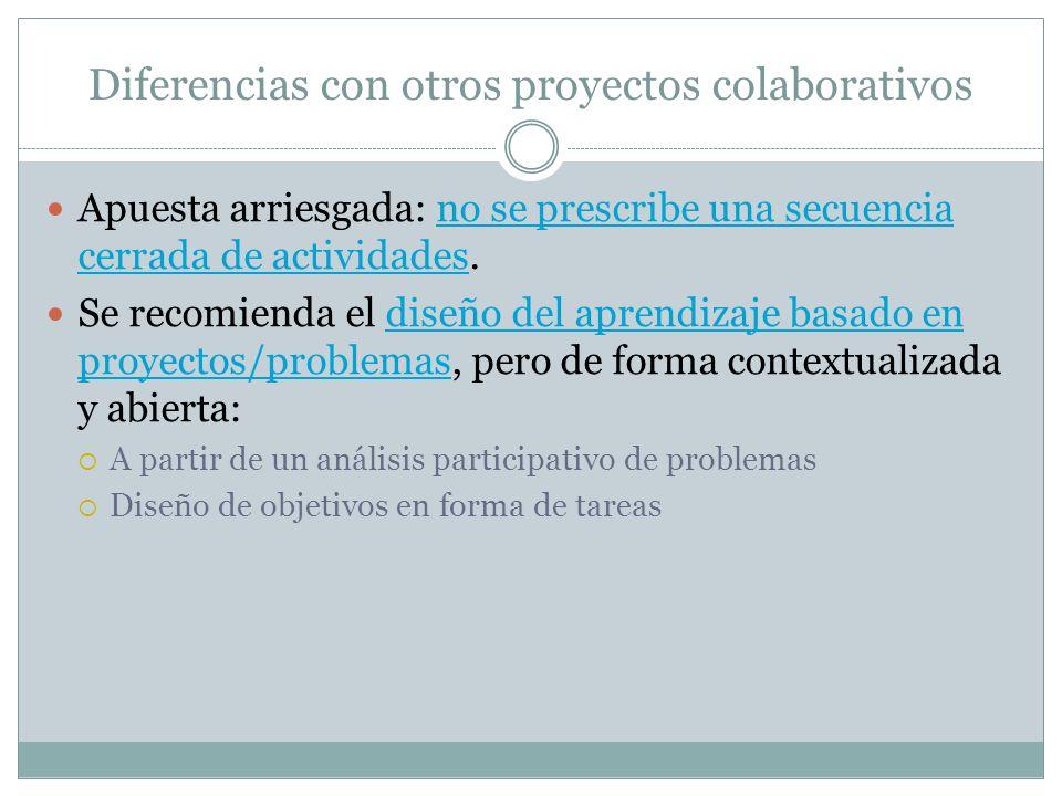 Diferencias con otros proyectos colaborativos