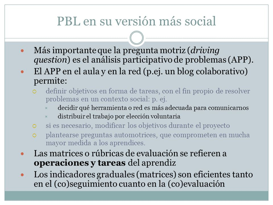 PBL en su versión más social