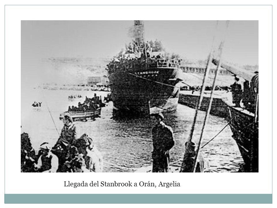 Llegada del Stanbrook a Orán, Argelia