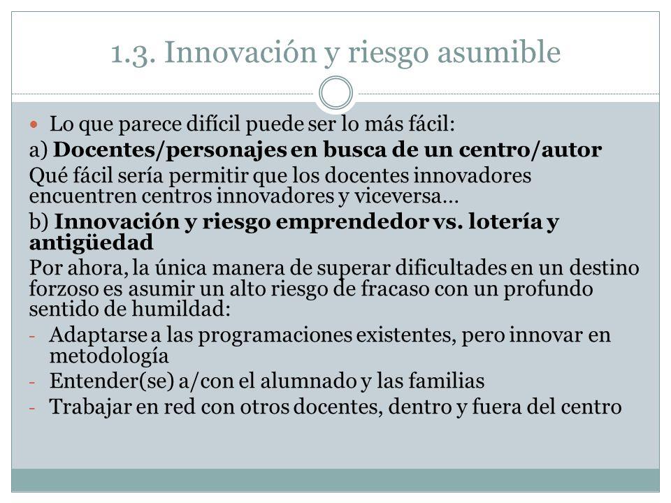 1.3. Innovación y riesgo asumible