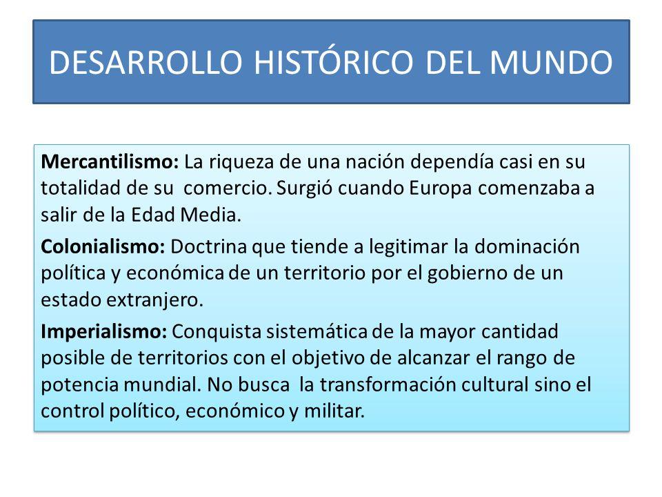 DESARROLLO HISTÓRICO DEL MUNDO