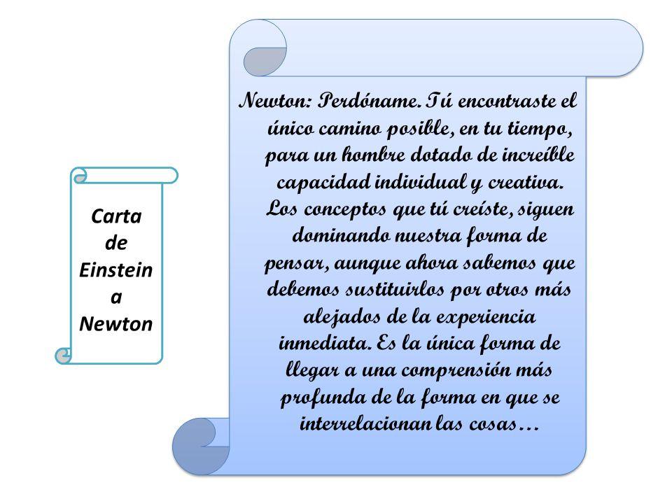 Carta de Einstein a Newton