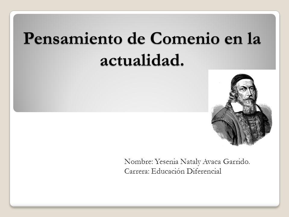 Pensamiento de Comenio en la actualidad.