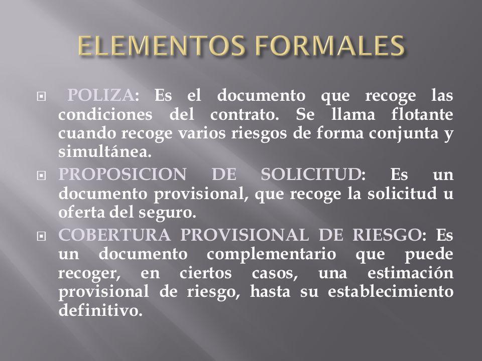 ELEMENTOS FORMALES