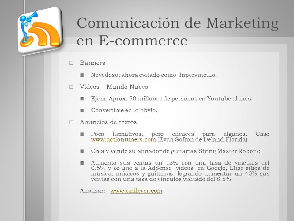 Comunicación de Marketing en E-commerce