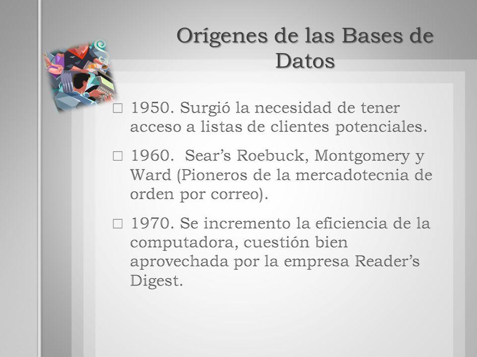 Orígenes de las Bases de Datos