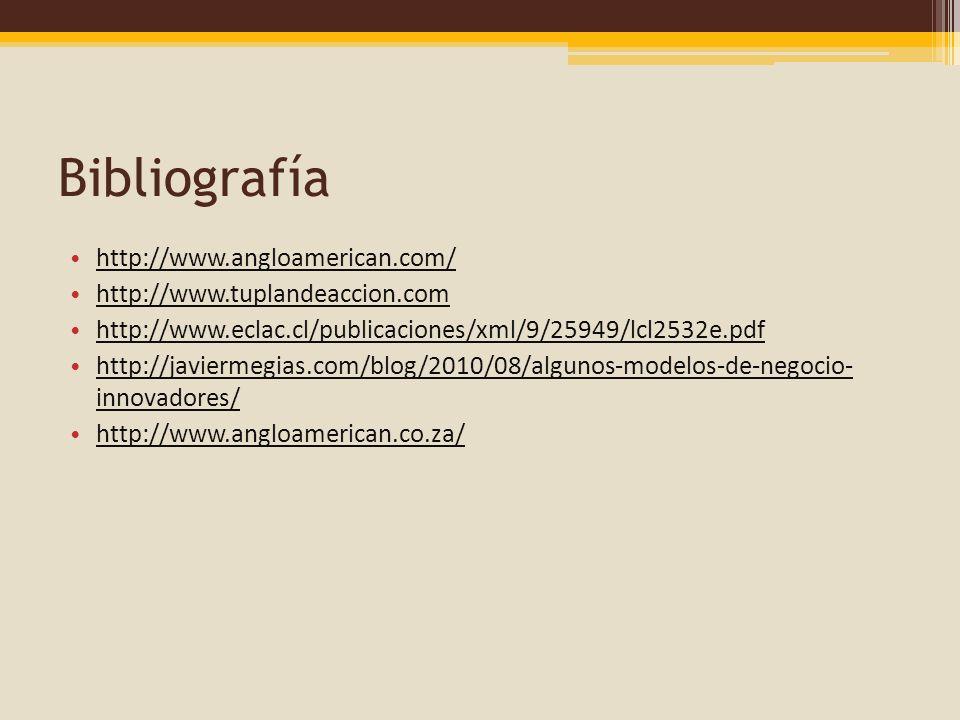 Bibliografía http://www.angloamerican.com/