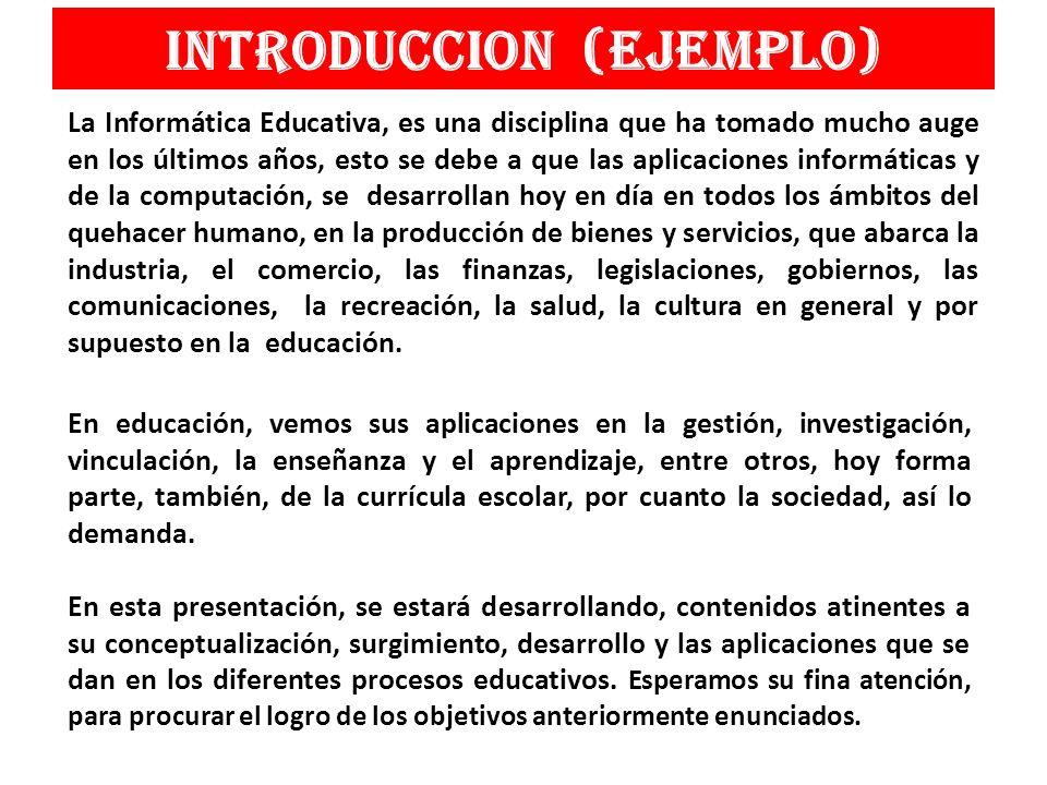INTRODUCCION (ejemplo)