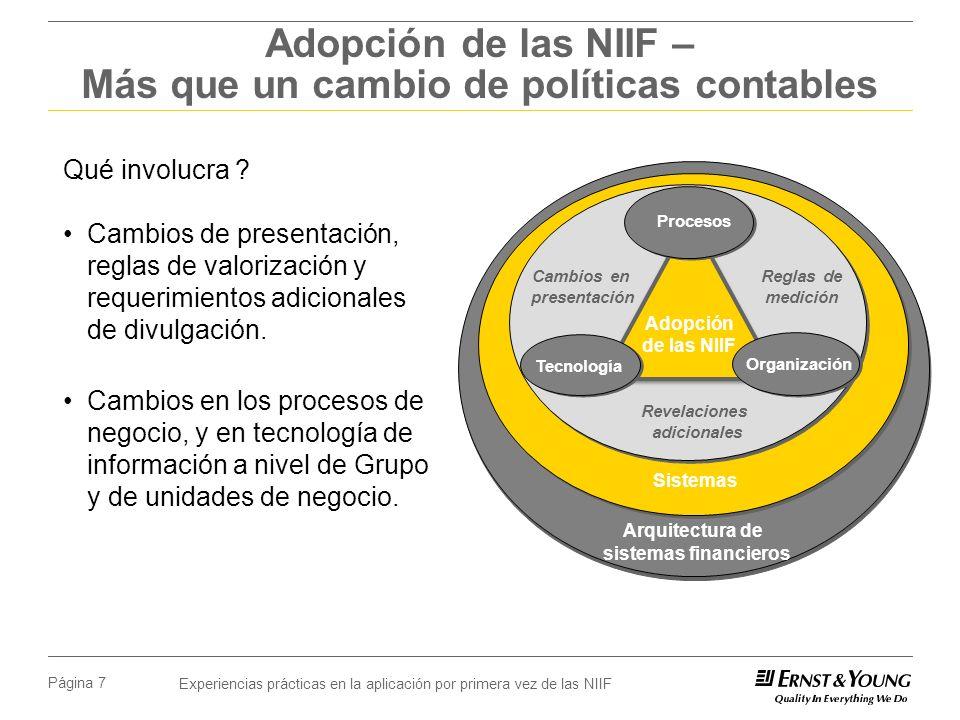 Adopción de las NIIF – Más que un cambio de políticas contables