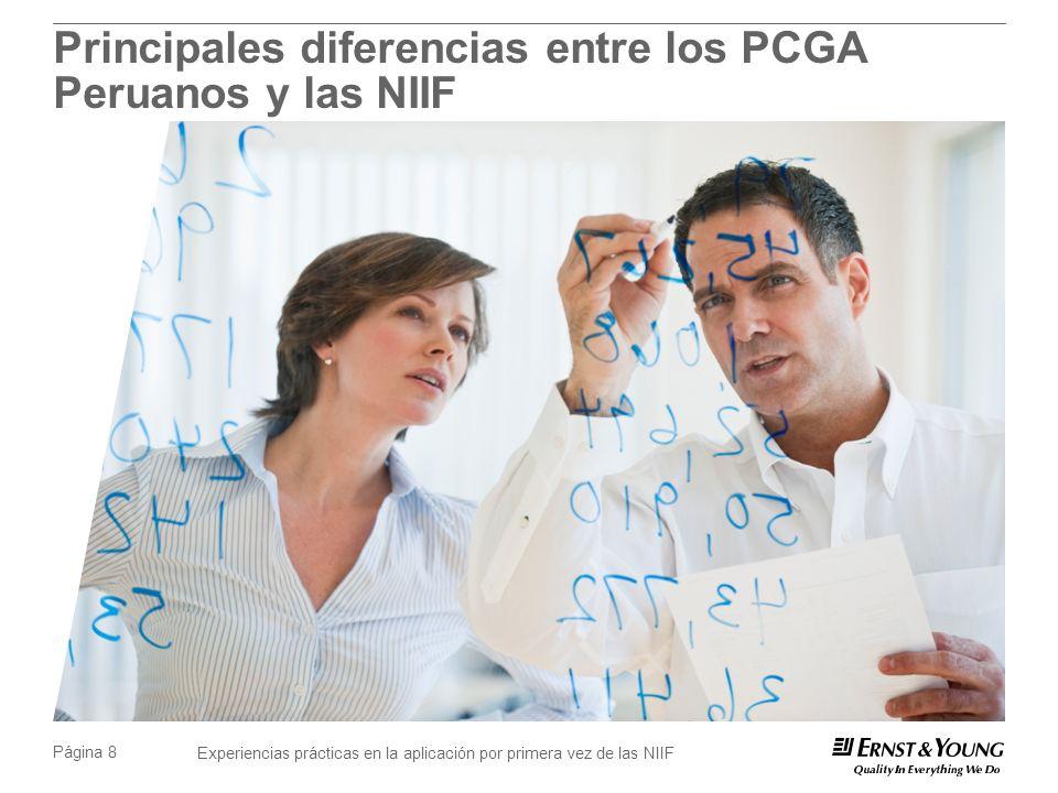 Principales diferencias entre los PCGA Peruanos y las NIIF