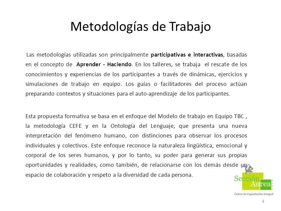 Metodologías de Trabajo