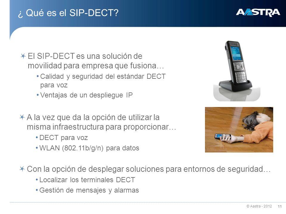 ¿ Qué es el SIP-DECT El SIP-DECT es una solución de movilidad para empresa que fusiona… Calidad y seguridad del estándar DECT para voz.